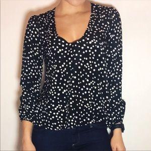 Lovers+friends polka dot blouse